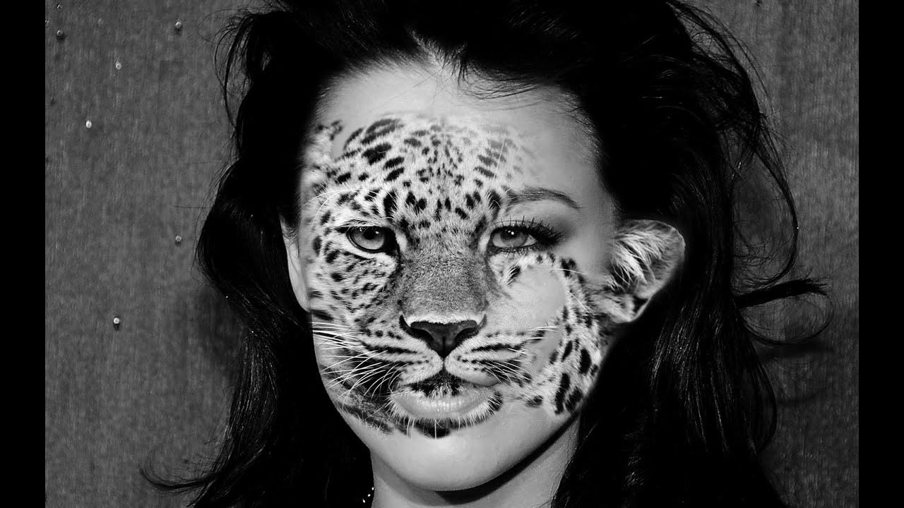 Thực hành Photoshop : ghép ảnh người mặt thú