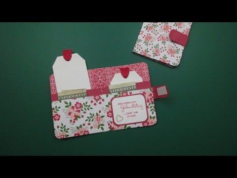 Tutorial: Geldgeschenk- oder Gutscheinbörse mit Produkten von Stampin' Up!-