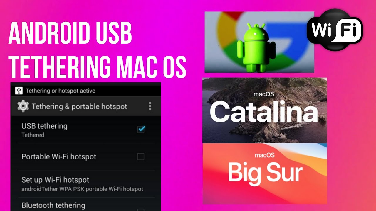 Android tether for mac os versions