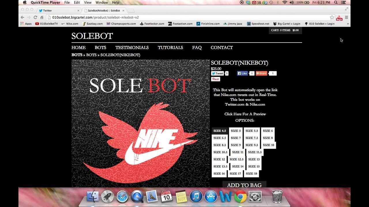 e2f819cfe1a148 Nike Bot - Twitter Link Sniper + AddToCart Bot - YouTube