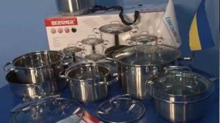Набор посуды Bergner BG 1682(Набор посуды Bergner BG 1682 Оптовая цена от компании Электромотор, Киев. Тел. 5-000-888. Положительные отзывы. Техниче..., 2012-01-18T09:03:09.000Z)