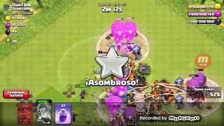CLASH OF CLANS (SERVIDOR PRIVADO) !!!Atacando Con 40 Globos Esqueleticos y hechizos De Rabia!!!