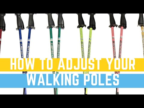 How to adjust your walking poles