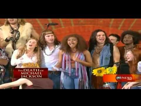 """Sasha Allen with the cast of """"Hair"""" Tribute To Michael Jackson  - I"""