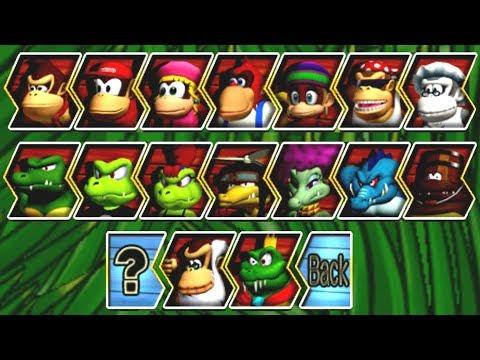 Donkey Kong Barrel Blast - All Characters