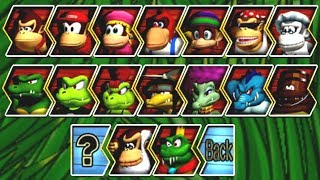 Donkey Kong Barrel Blast - All Characters
