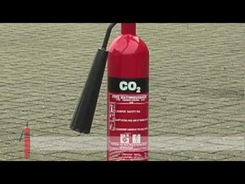 Fire Safety Training - How to use a CO2 (Carbon Dioxide) Fire Extinguisher