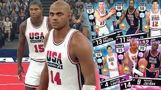 NBA 2k17 MyTeam - 99 OVR Dream Team Lineup! Pink Diamond Charles Barkley & Jordan + LeBron Stumbles!