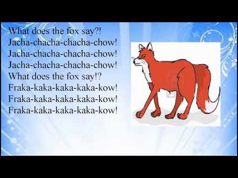What does the fox say lyrics - photo#10