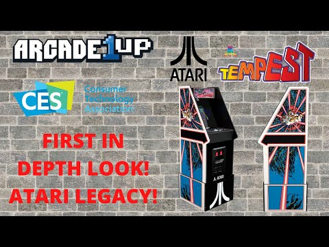 Arcade1up: CES 2021 - Atari Legacy Edition in depth look from PsykoGamer