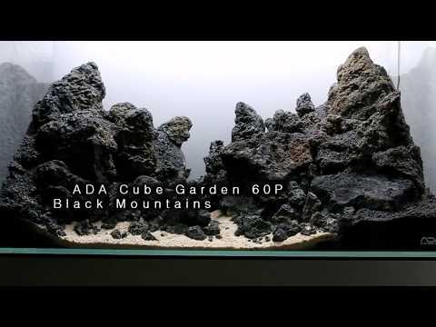 ADA Cube Garden 60P - Iwagumi Aquascape- Black Mountains (Lavarocks)