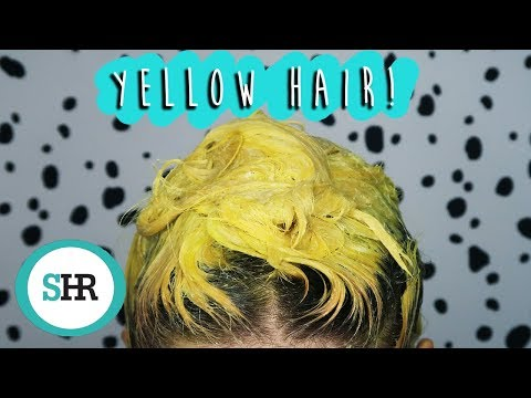 I DYED MY HAIR YELLOW!