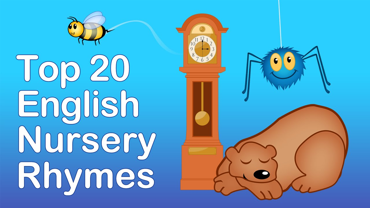 ENGLISH NURSERY RHYMES | 40 MINS LONG. Top 20 English Nursery Rhymes | Preschool Learning Songs