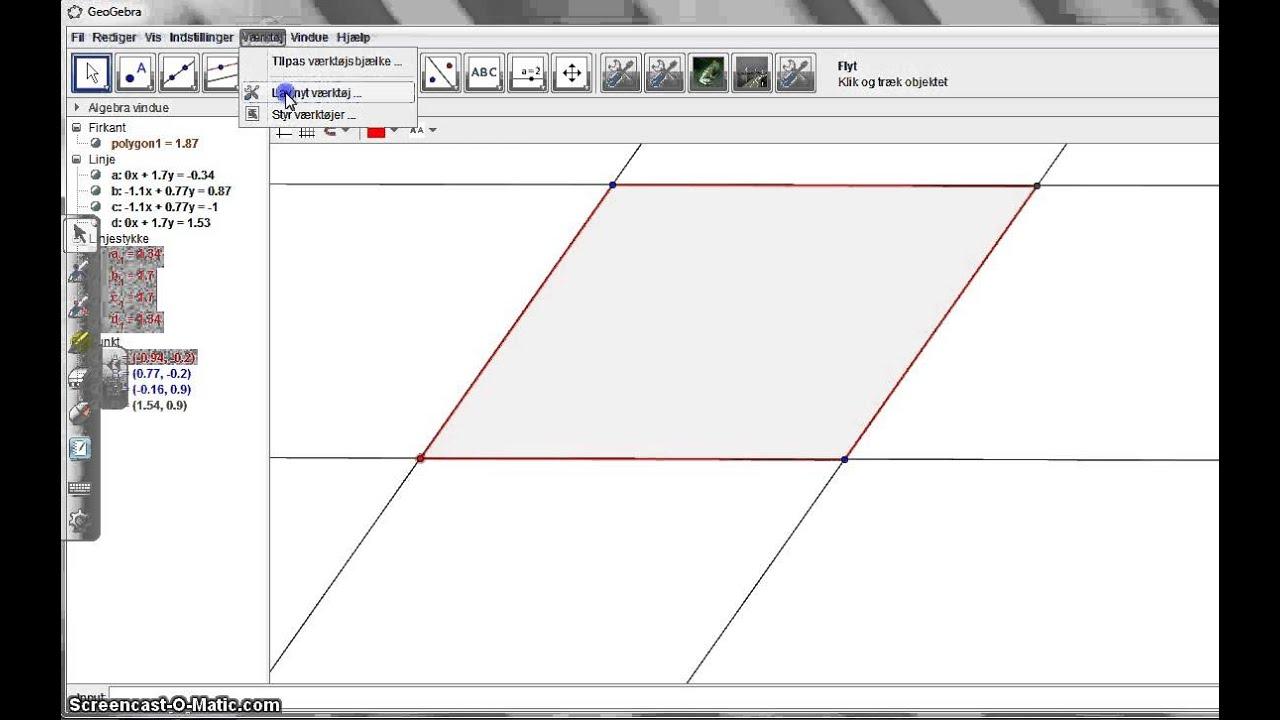 Lav et værktøj i Geogebra