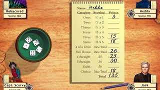Hoyle Board Games 2003 - Yacht Take 05 (Hedda, Jack, Capt Scurvy)[1080p60]