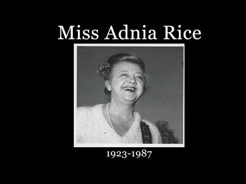 Adnia Rice Tribute 2017