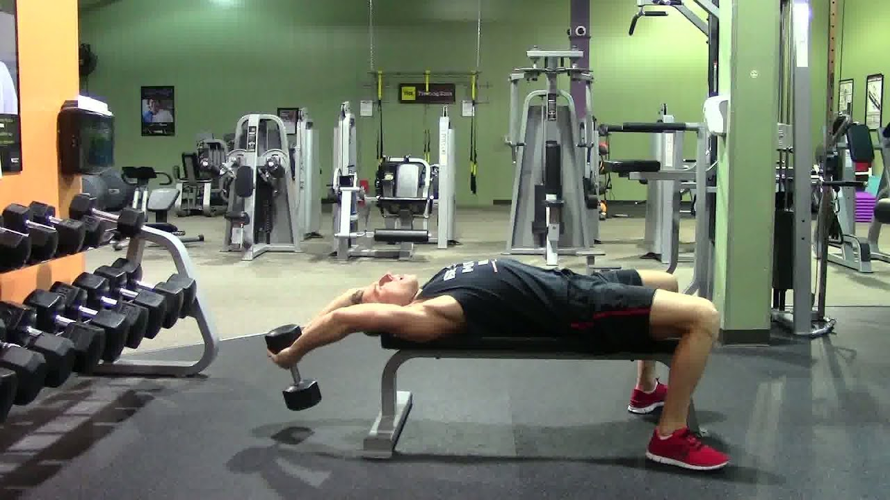 Dumbbell Pullover - HASfit Compound Exercise Demonstration ...