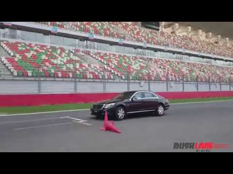 Mercedes S600 Guard Slalom Test At 0 PSI Tyre Pressure: Buddh International Circuit