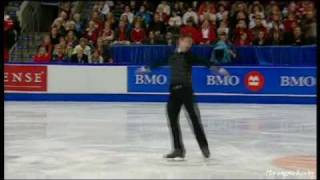 ☆ 20100117 BMO Canadian Championships : Patrick Chan FS (Commented by Pj Kwong, Video from CBC.ca)