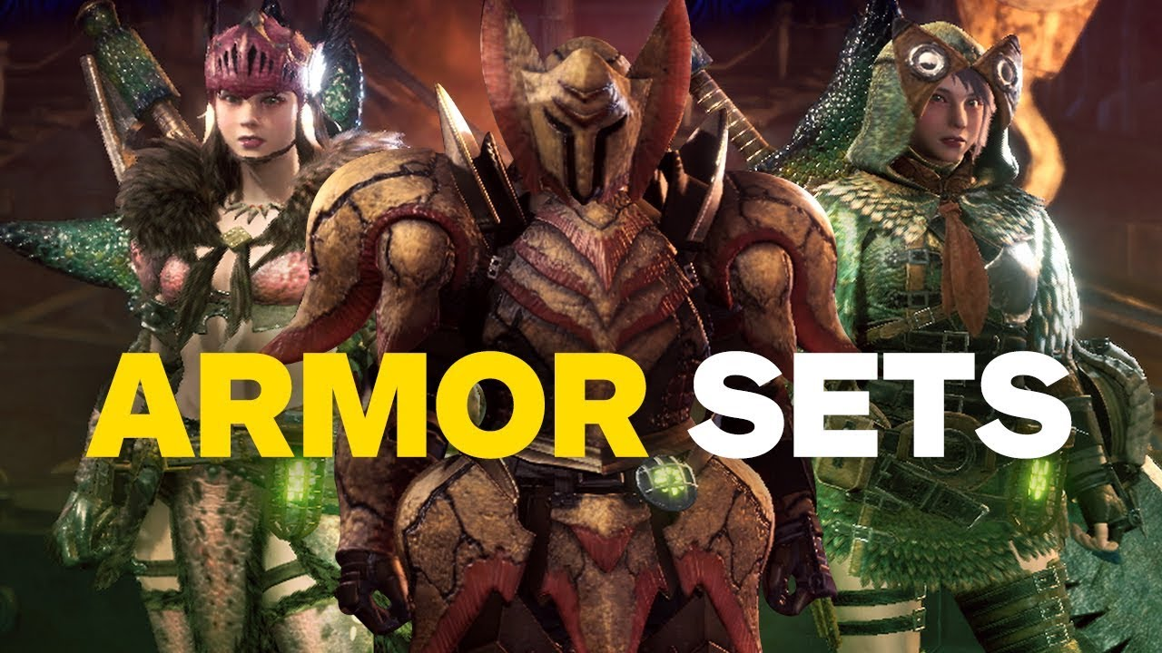 Monster Hunter World Every Armor Set So Far Youtube
