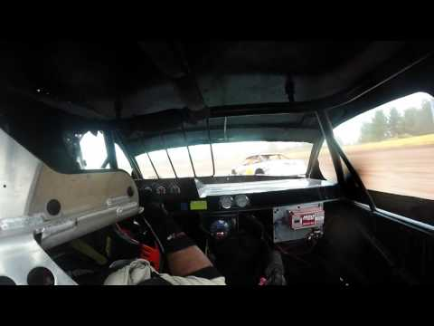 10-16-16 Tomahawk Speedway Stock Car Feature In-Car