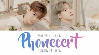 [문빈&산하]MOONBIN & SANHA 'Phonecert' (cover) lyrics (Eng/Rom/Han) - original: 10cm