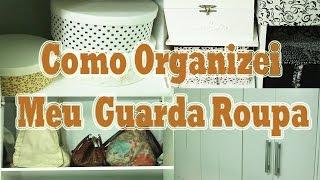 Organizando guarda roupa, criando espaço para organizar melhor