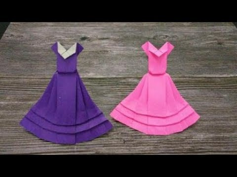 How to make a Paper Snow White Dress | DIY paper crafts | Easy Origami step by step Tutorial