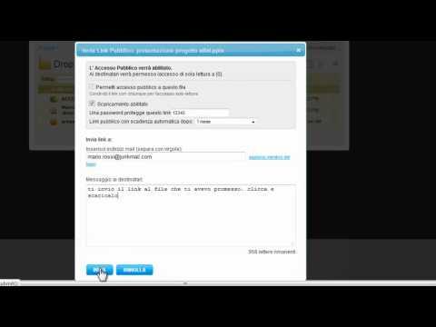 invia link a un file