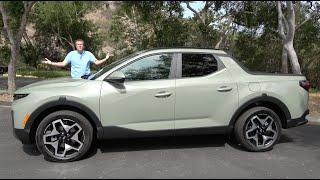 homepage tile video photo for The 2022 Hyundai Santa Cruz Is a Truck That's Also a Car