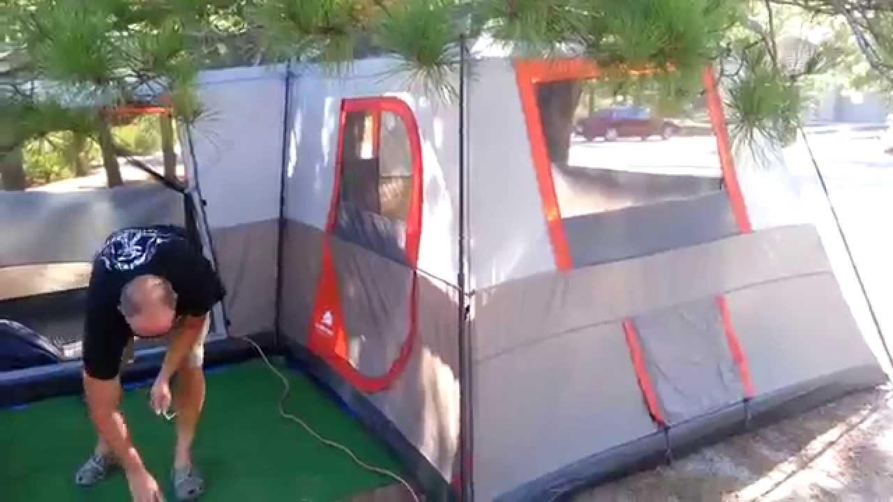 Ozark Trail 16 x 16 cabin tent & Ozark Trail 16 x 16 cabin tent - YouTube