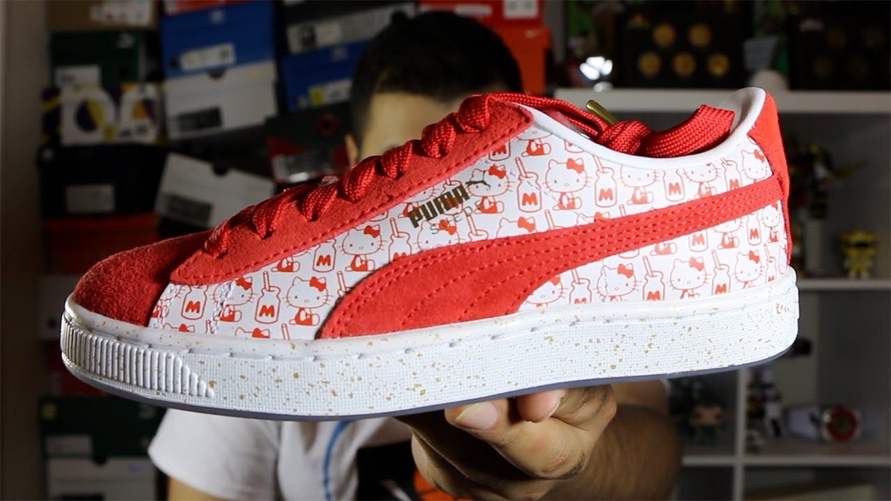 2ceec4563 Hello Kitty X Puma Suede Review! - YouTube