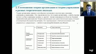 Теория организации. Лекция 1. Теория организации как наука