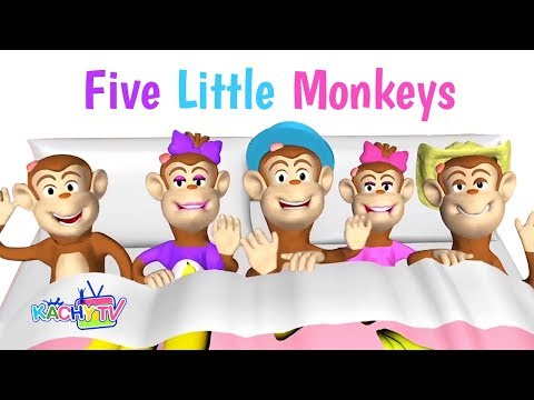 Five Little Monkeys Jumping On The Bed Nursery Rhymes | Baby Song