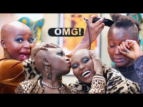 TRANSFORMING MY COUSIN INTO ME ! I SHAVED HER HAIR BALD | Shalom Blac