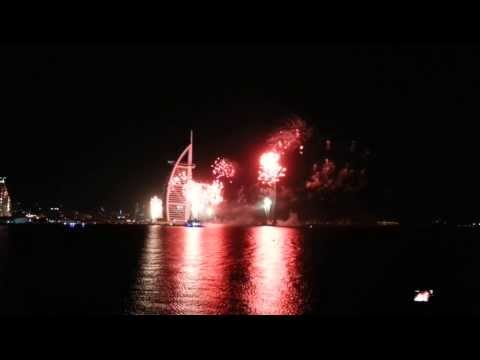 Burj al Arab 2014 New Years Eve Fireworks