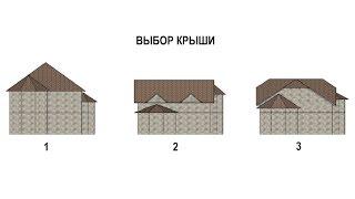 Выбор формы крыши для дома