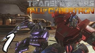 Transformers Fall Of Cybertron Part 1 [HD] Walkthrough Playthrough Gameplay Xbox360/PS3/PC
