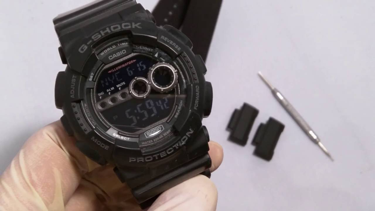 hot sale online 56a0d 5247f How to Change a Strap on G-Shock GD-100 with NATO or Zulu using JaysAndKays  Adapters #jaysandkays