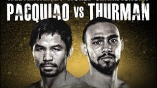 Pacquiao vs Thurman live in Las Vegas