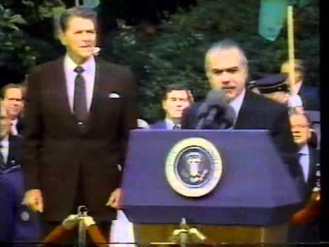 José Sarney x Reagan - Washington - Casa Branca.