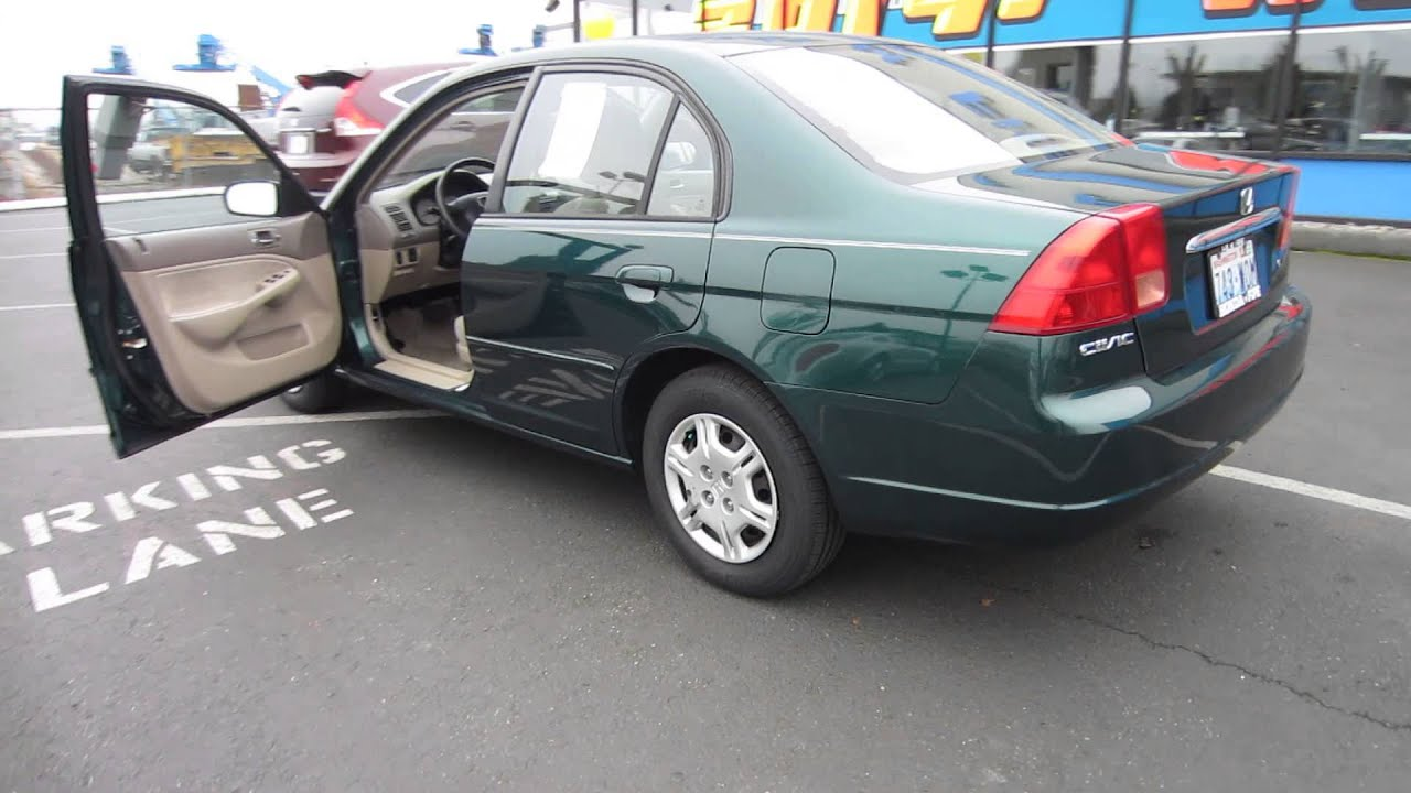 2002 Honda Civic Dark Green  STOCK 731375  Walk around  YouTube