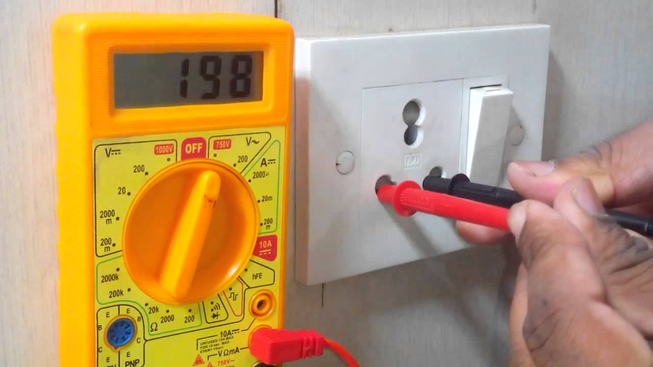 medium resolution of subscribe this video check voltage and earthing through multimeter youtube