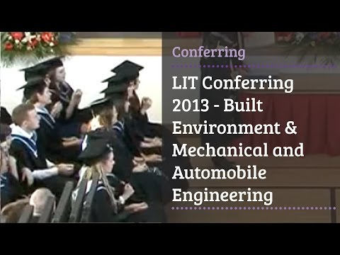 LIT Conferring 2013 - Built Environment & Mechanical and Automobile Engineering
