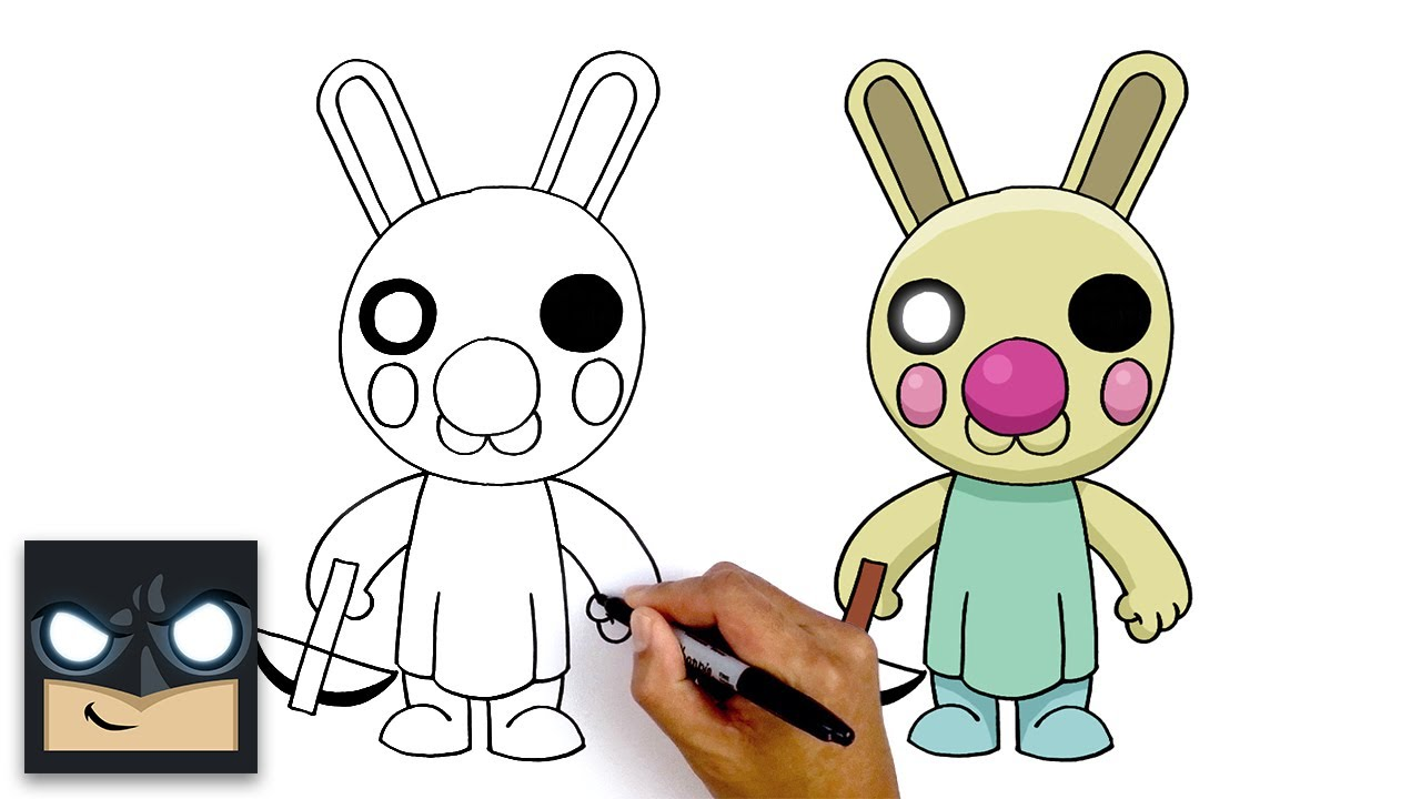 How To Draw Bunny Roblox Piggy Youtube