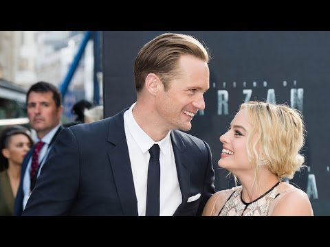 Alexander Skarsgard Helps 'Tarzan' Co-Star Margot Robbie Avoid a Red Carpet Wardrobe Malfunction!