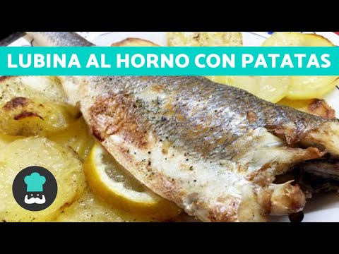 LUBINA al horno con patatas FÁCIL paso a paso | Receta de lubina AL HORNO