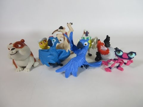 Rio 2 Movie Collector Set 8 figures Carnival Party Set unboxing Blu, Blue Macaw Box Open Toy review