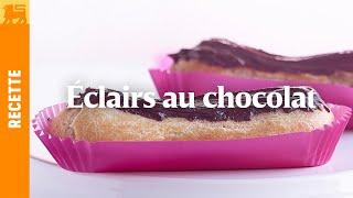 Éclairs au chocolat noir grand cru
