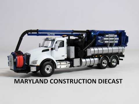 1:50 Kenworth T880 Vactor Vacuum Truck by First Gear